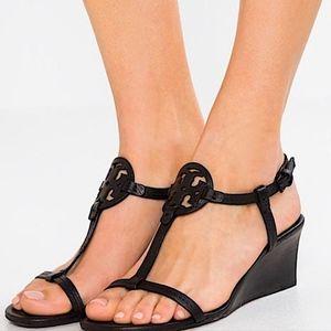 TORY BURCH Miller Black 60MM Wedge Sandals